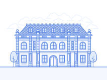 Chateau vector icon Stock Images