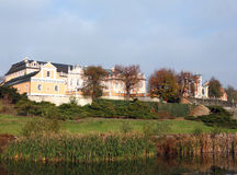 Chateau in the village Royalty Free Stock Photography