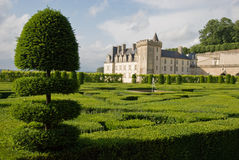chateau villandry fotografia royalty free