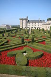 Chateau Villandry. With beautiful garden Stock Photography
