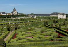 Chateau Villandry en Tuin Stock Foto