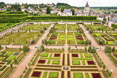 Chateau Villandry Garden Stock Images