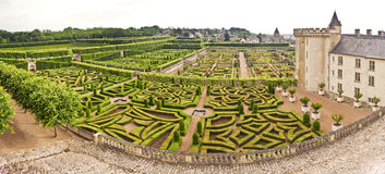 Chateau Villandry Garden Royalty Free Stock Photos