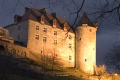 Chateau von Gruyeres lizenzfreie stockfotografie