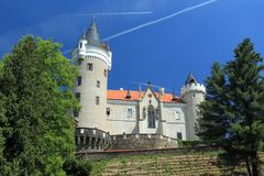 Chateau Zleby. The renaissance chateau in Zleby, Czech Republic royalty free stock images