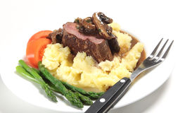 Chateaubriand with fork Royalty Free Stock Photography