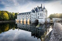 chateauchenonceau de france Loire Valley Arkivfoton