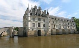 chateauchenonceau de Loire Valley arkivfoton