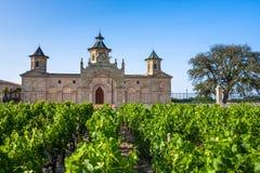 Chateaucos. D'Estournel, het Gebied van Bordeaux, Frankrijk Stock Fotografie
