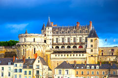 Chateaude Amboise middeleeuws kasteel, Leonardo Da Vinci-graf royalty-vrije stock foto