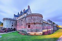 Chateaudes Ducs de Bretagne i Nantes Royaltyfri Bild