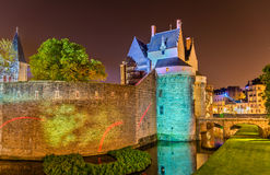 Chateaudes Ducs de Bretagne i Nantes, Frankrike Royaltyfri Fotografi
