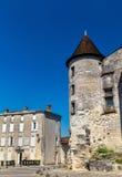 Chateaudesen Valois, en medeltida slott i Cognac, Frankrike royaltyfria foton