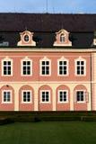 Chateaudetail van Dobris Stock Afbeeldingen