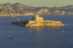 ChateaudIffängelse Marsella Frankrike Arkivfoton