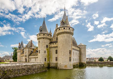 Chateauen befläcker sur Loire Royaltyfri Bild