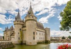 Chateauen befläcker sur Loire Arkivfoton