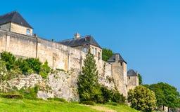 Chateauen de Caen, en slott i Normandie, Frankrike royaltyfri bild