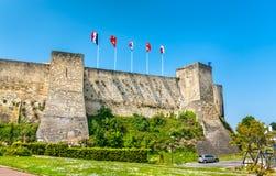 Chateauen de Caen, en slott i Normandie, Frankrike arkivfoto