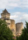 Chateauen de Castelnaud Arkivfoton