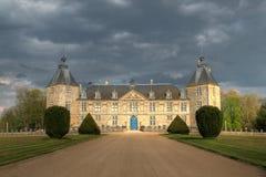 chateauen de france för 02 burgundy befläcker Arkivbild