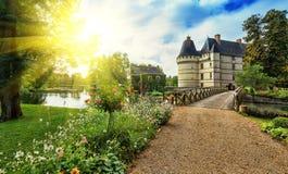 Chateauen de l'Islette, Frankrike Arkivbild