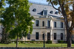 Chateauen Palmer ?r en vinodling i Margaux originecontr?'l fotografering för bildbyråer
