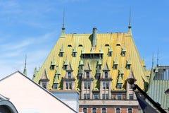 ChateauFrontenac hotell i Quebec City Royaltyfri Bild