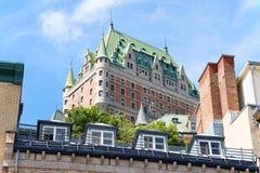 ChateauFrontenac hotell i Quebec City, Kanada Royaltyfria Foton