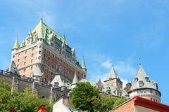 ChateauFrontenac hotell i Quebec City, Kanada Royaltyfria Bilder
