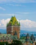 chateaufrontenac quebec Royaltyfri Bild
