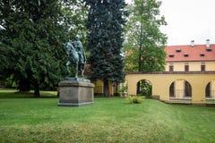 Chateaupark in Zbraslav, Tsjechische Republiek Stock Afbeeldingen