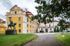 Chateaupark in Zbraslav, Tsjechische Republiek Royalty-vrije Stock Foto's
