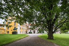 Chateaupark in Zbraslav, Tsjechische Republiek Royalty-vrije Stock Fotografie