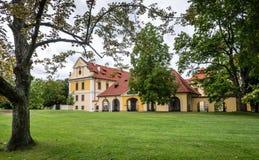 Chateaupark in Zbraslav, Tsjechische Republiek Stock Fotografie