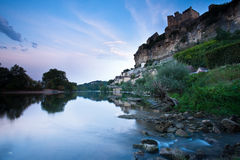Chateau Beynac at sunrise Dordogne Perigord Noir France Royalty Free Stock Photos