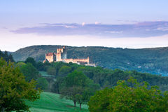 Chateau Beynac at sunrise Dordogne Perigord Noir France Royalty Free Stock Image