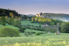 Chateau Beynac in spring Dordogne Perigord Noir France Stock Images