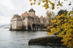 Chateaux DE Chillon in Montreux Vaud, het meer van Genève, Zwitserland Royalty-vrije Stock Foto