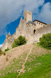 Chateaux de la cite sight from out walls vertical side view at C Royalty Free Stock Image