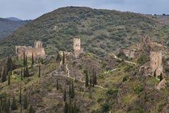 Chateaux de Lastours Stock Photo