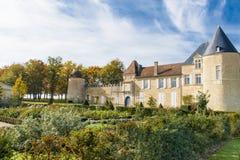 Castillo francés d Yquem, Francia imagen de archivo libre de regalías