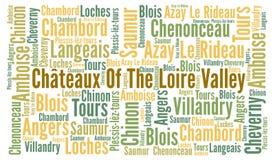 Chateaux del Loire Valley in Francia Immagine Stock Libera da Diritti