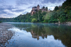 Chateau Monfort at sunrise. Dordogne France Stock Photography