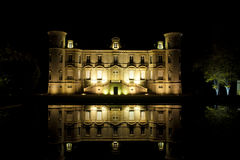 Chateau Pichon-Longueville at night Stock Photos