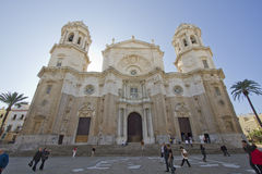 Chatedral in Cadiz, Spain Royalty Free Stock Image
