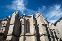 Chatedral in Limoux, France Royalty Free Stock Photos