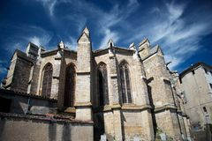 Chatedral in Limoux, France Stock Photos