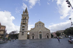 Chatedral in Messina, Italien Stockbilder