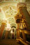 Chatedral nella fortezza del Paul e del Peter Fotografia Stock